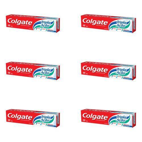 Colgate Tripla Ação Menta Original Creme Dental 90g (kit C/06)