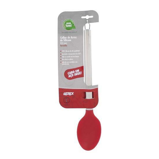 Colher Silicone 36 Cm Vermelho