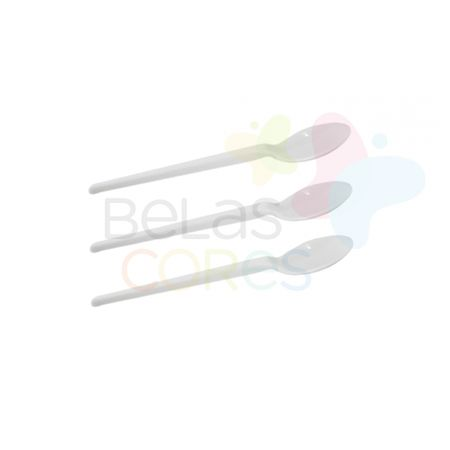 Colherzinha Acrílica Branca - 50 Unidades