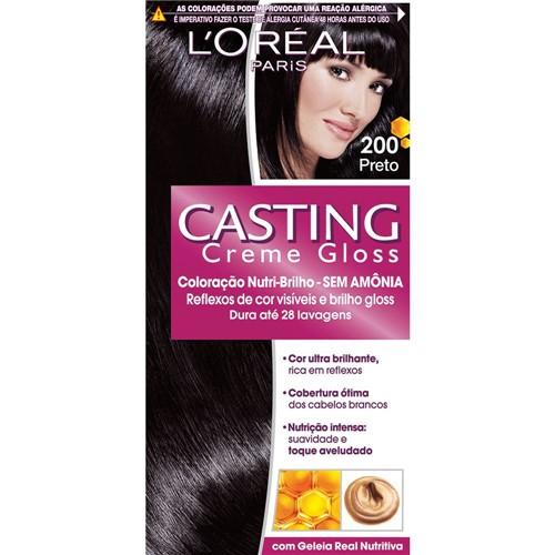 Coloração Casting Creme Gloss Preto 200