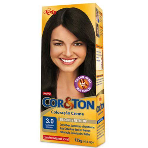 Coloração Cor & Ton Kit 3.0 Castanho Escuro
