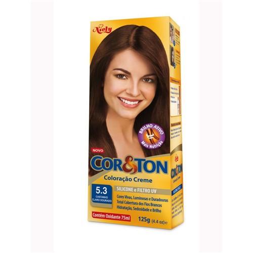 Coloração Cor & Ton 50G 5.3 Castanho Claro Dourado