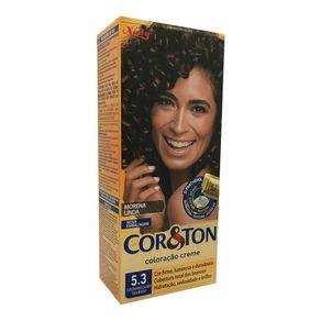 Coloração Creme Cor & Ton Niely Castanho Claro Dourado 5.3