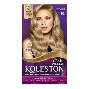Coloração Creme Koleston Kit Louro Cinza Claro 81