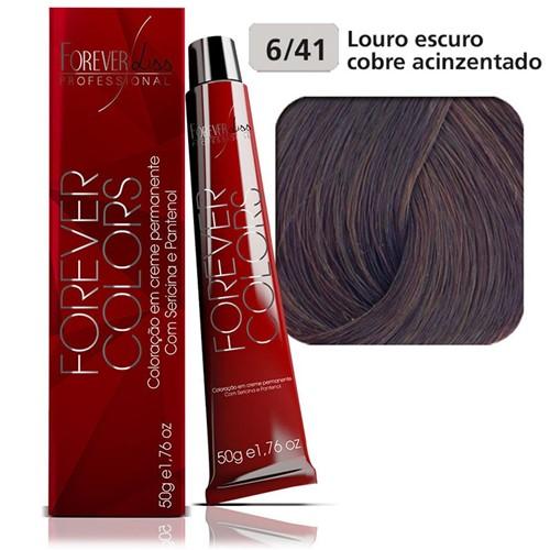 Coloração Forever Colors - Cobre Acinzentado 6-41 Louro Escuro Cobre Acinzentado