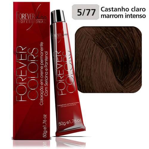 Coloração Forever Colors - Marrom 5-77 Castanho Claro Marrom Intenso