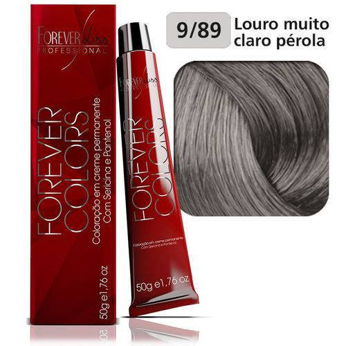 Coloração Forever Colors - Pérola 9-89 Louro Muito Claro Pérola.
