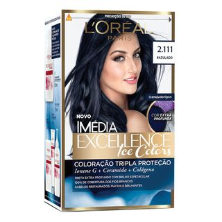 Coloração Imédia Excellence L'Oréal Paris - Ice Colors 2.111 Azulado