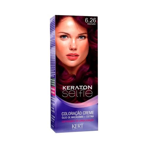Coloração Keraton Selfie 6.26 Marsala