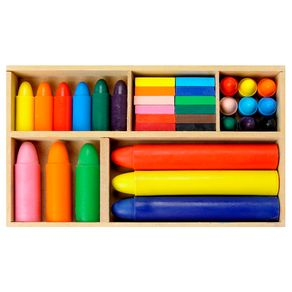 Colori Mega Kit Giz de Cera 33 Pçs Multicor
