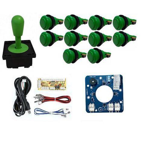 Comando Aegir Magnético 10 Botões Nylon e Zero Delay - Verde