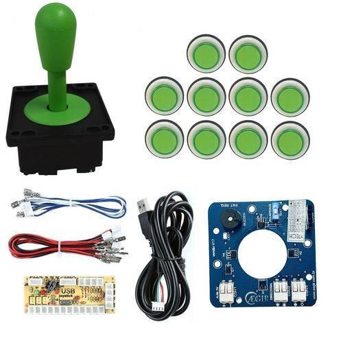 Comando Magnético 10 Botões Corpo Branco Zero Delay - Verde