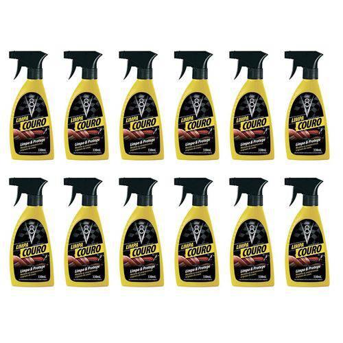 Combo 12 Limpa Couro Gatilho Spray - Potente Limpador de Couros, Bancos, Estofados de Couro Spray Sanol V8 330ml