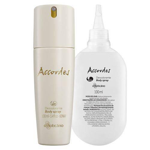 Combo Accordes: 1 Desodorante Body Spray + 4 Refil