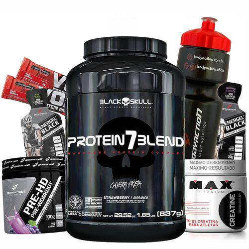 Kit Whey/wey Protein Blend + Creatina + Pre Treino