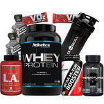 Combo Kit Seca Barriga Whey Wey Way Wei Protein Bcaa L.a Coqueteleira Shaker