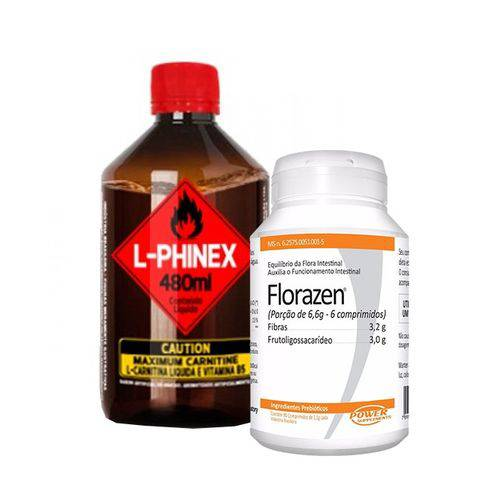 Combo - L-phinex 480ml + Flora Zen 90 Comp - Power Supplements