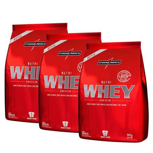Combo 3 Nutri Whey - Integralmedica - Chocolate