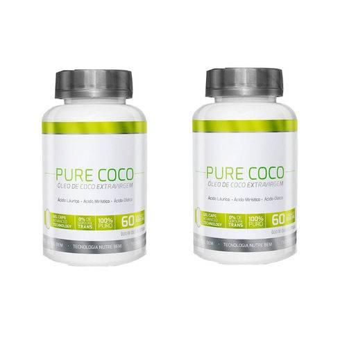 Combo 2 Óleo de Coco Pure Coco Extravirgem Cápsula