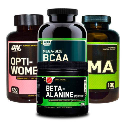 Combo Opti-women 120 + Bcaa 400 + Zma 180 + Beta-alanine On