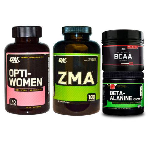 Combo Opti-women 120 + Zma 180 + Bcaa + Beta-alanine On