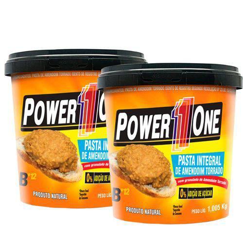 Combo Pasta de Amendoim Crocante (1kg Cada) - Power One