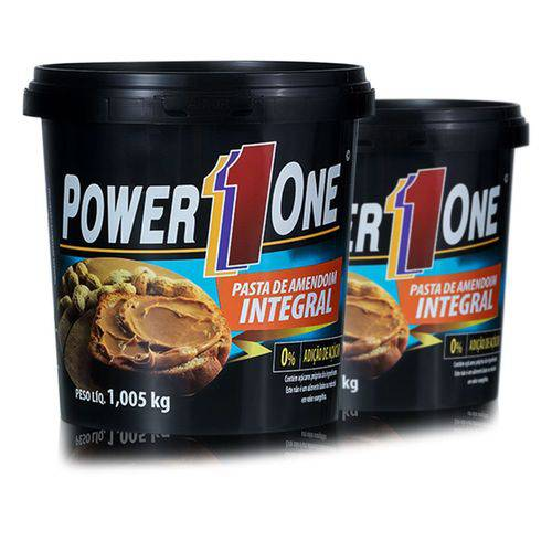 Combo 2 Pastas de Amendoim Integral Lisa 1kg - Power One