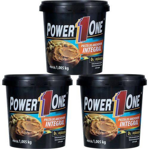 Combo 3 Pastas de Amendoim Integral Lisa 1kg - Power One