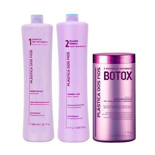 Combo Plástica dos Fios Selagem Progressiva com Botox