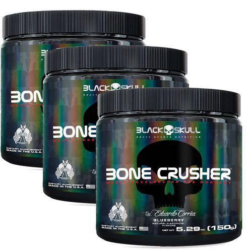 Combo 3x Pré Treino Bone Crusher (150g) - Black Skull