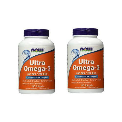 Combo 2x Unidades Ultra Omega 3 - 180 Sotgels Now Foods