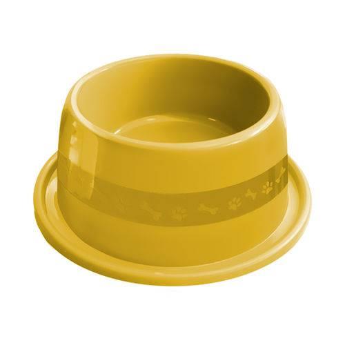 Comedouro Plástico Furacão Pet Antiformiga N°3 1000ml - Amarelo