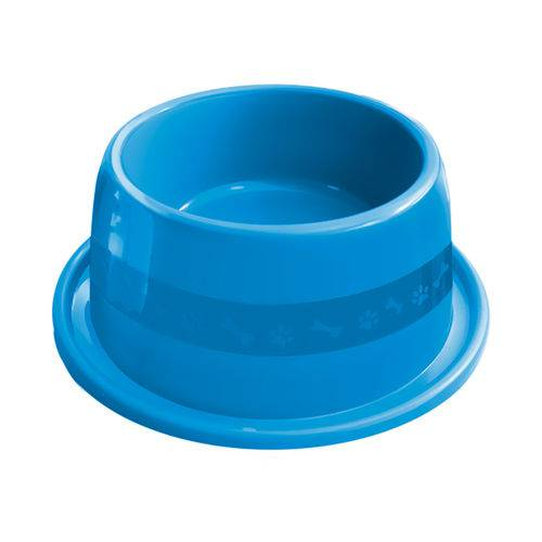 Comedouro Plástico Furacão Pet Antiformiga N°3 1000ml - Azul