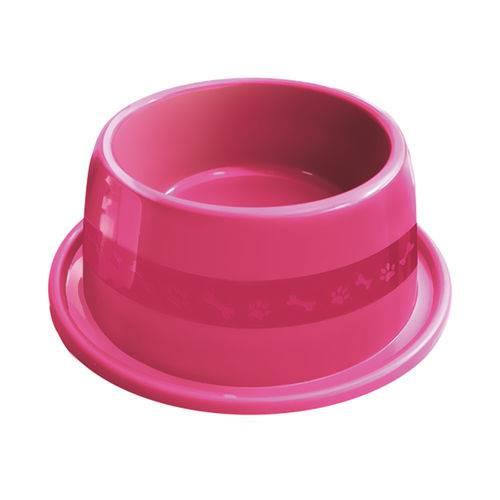 Comedouro Plástico Furacão Pet Antiformiga N°3 1000ml - Rosa