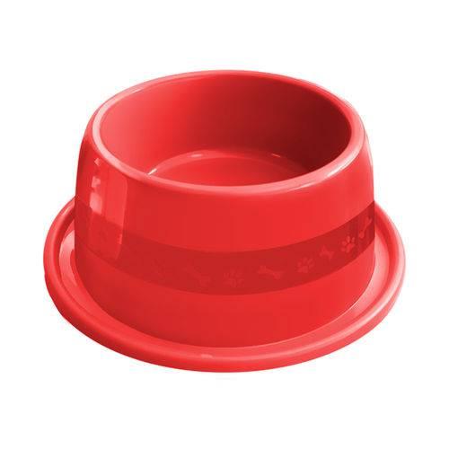 Comedouro Plástico Furacão Pet Antiformiga Nº3 1000ml - Vermelho