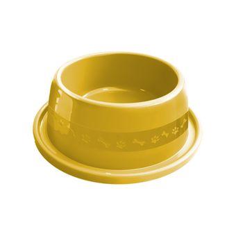 Comedouro Plástico Furacão Pet Antiformiga Nº2 550ml - Amarelo