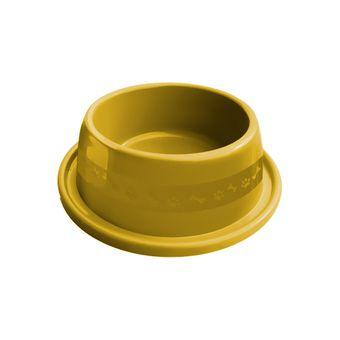 Comedouro Plástico Furacão Pet Antiformiga Nº1 350ml - Amarelo