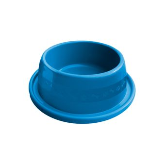 Comedouro Plástico Furacão Pet Antiformiga Nº1 350ml - Azul