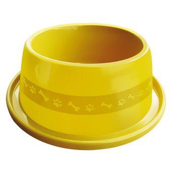 Comedouro Plástico Furacão Pet Antiformiga Nº4 1900ml - Amarelo