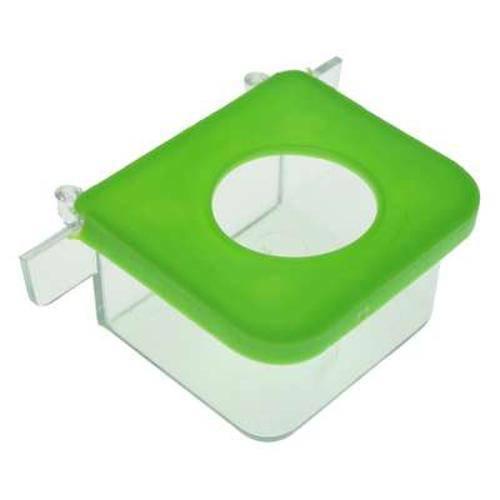 Comedouro Retangular 1 Furo Verde - Pequeno