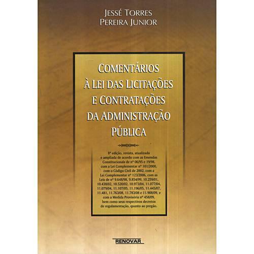 Livro - Comentários à Lei das Licitações e Contratações da Administração Pública
