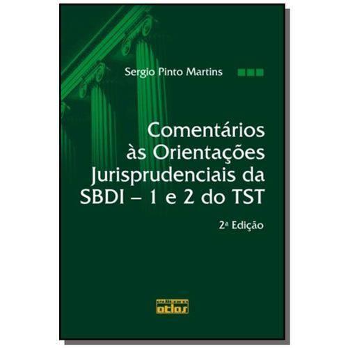 Comentarios as Orientacoes Jurisprudenciais da Sbd