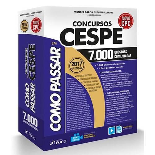 Como Passar em Concursos Cespe - 7.000 Questoes Comentadas - 06 Ed