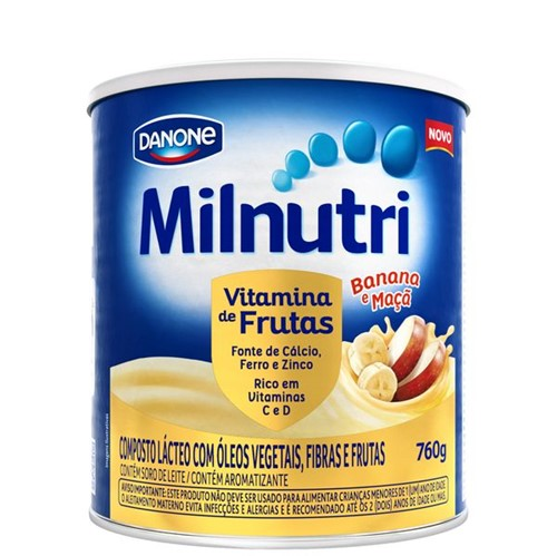 Composto Lacteo Milnutri 760g Vitamina Frutas