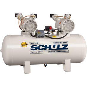 Compressor de Ar Odontológico Isento de Óleo - MSV 12/200 - 220V - Schulz
