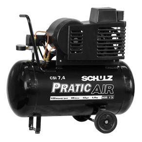Compressor de Ar Pratic Air CSI 7,4 C/Rodas 50 L Schulz 220V