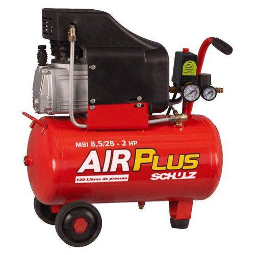 Compressor de Ar Schulz Air Plus MSI , 2 HP, 25 Litros