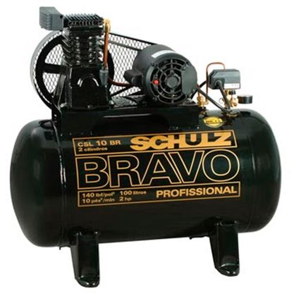 Compressor Schulz BRAVO CSL10 BR/100L Monofásico 921.7852-0