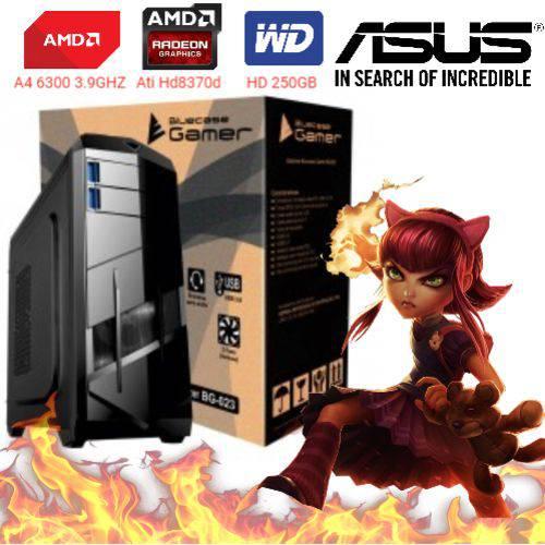 Computador Cpu Pc Gamer A4 6300 Dual Core 3.9 Ghz HDMI 4Gb Ati Radeon HD 8370D Bg-023