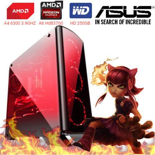 Computador Cpu Pc Gamer A4 6300 Dual Core 3.9 Ghz HDMI 4Gb Ati Radeon HD 8370D Bg-007